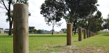 City of Cockburn Security Fencing Project, Dome Top Timber Bollards Project