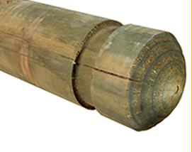 Treated Pine Bollards, Pine Bollards, Timber Barrier