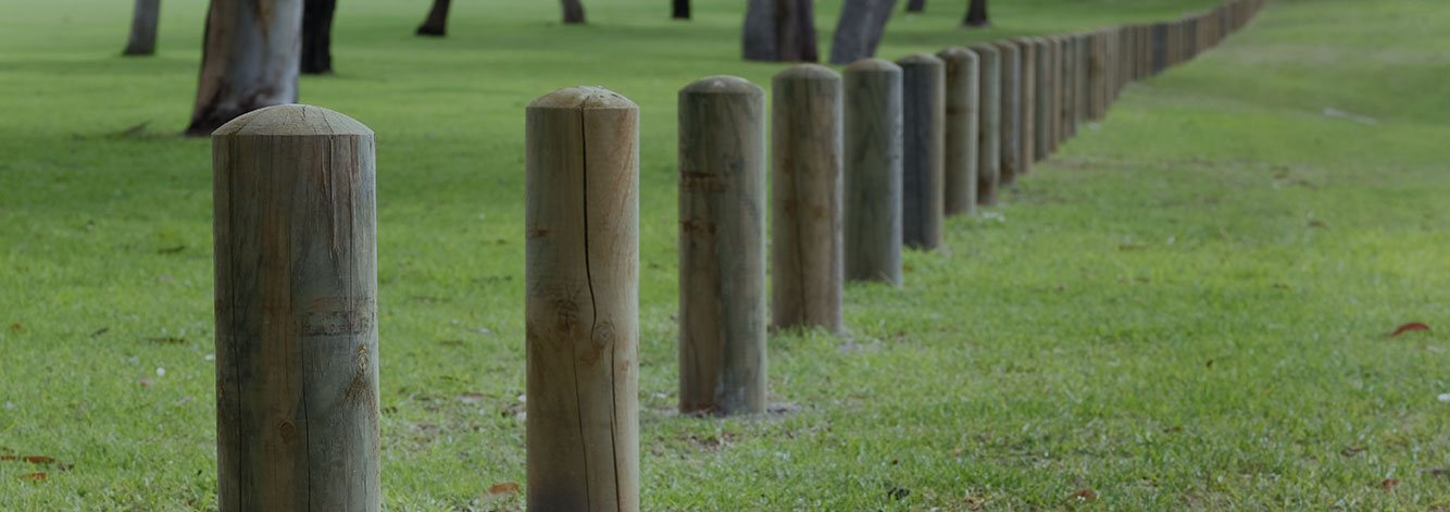 Treated Pine Bollards, Pine Bollards, Timber Barrier