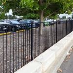 Tubular Steel Fencing, Playground Flat-top Tubular Fencing