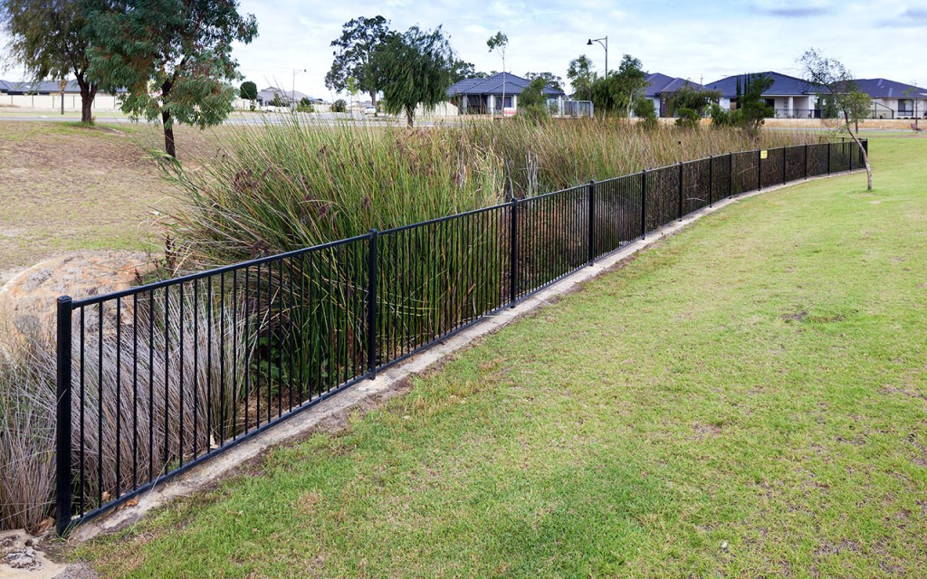 Tubular steel fencing perth commercial