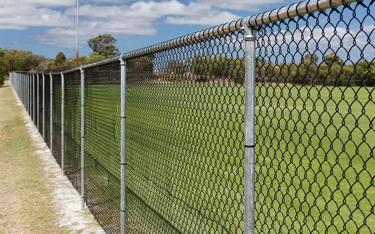 Toll Ipec Chain Wire Fencing Project, Commercial Chain Wire Fence Project